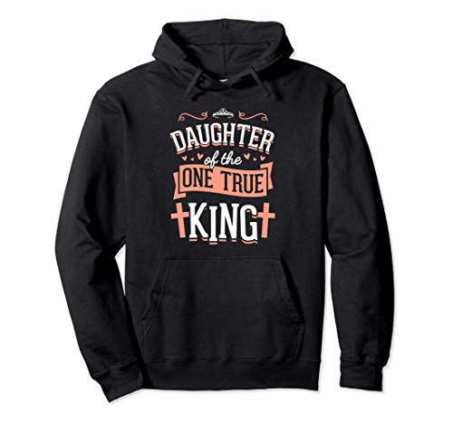 Daughter of the One True King Crown Christmas Gift White Pullover Hoodie