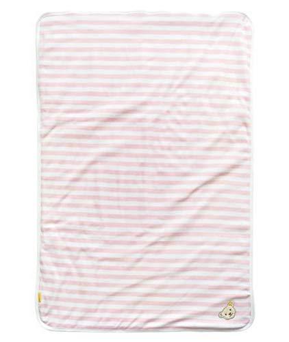 Steiff Baby-Mädchen Jersey mit Blockstreifen Decke, Ballerina, One Size
