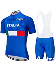 Heren fietsshirt met korte mouwen, sportkleding voor fietsen met broek Fietsbroek met korte broek, sneldrogend voor MTB