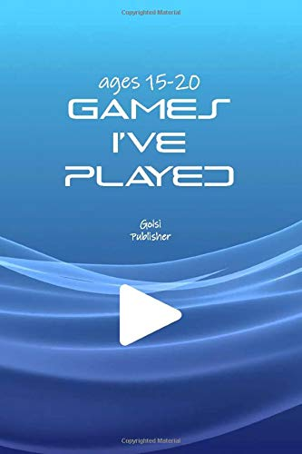 Video Games I've Played paperbook notebook book for ages 15-20: Simple and elegant notebook for gamers videogames list they've Played \ Dimensions  6.9 in \ Number pages  150