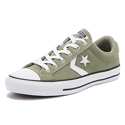 Converse Star Player OX Sneaker Oliv/weiß, 9 US - 42.5 EU - 9 UK