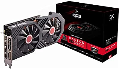 XFX Radeon RX 580 GTS Black Edition PCI Express 3.0 1425MHz OC+ 8GB GDDR5 VR Ready Grapics Card (1 x DL DVI-D /1 x HDMI /3 x DisplayPort) RX-580P8DBDR