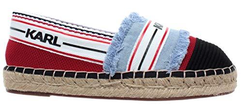 Karl Lagerfeld Damen Schuhe Espadrillas Patchwork Slip On Denim Textile Neu