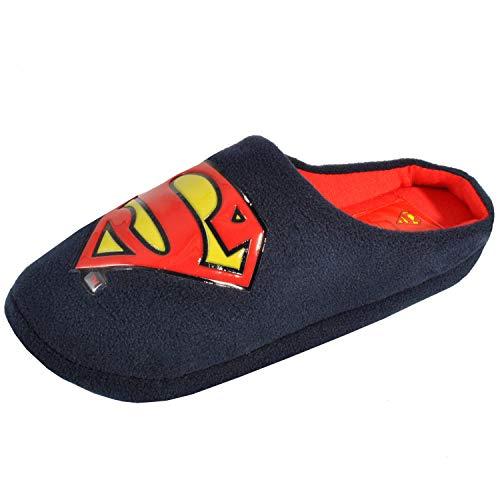 DC Comics Mule Superman - Pantuflas de Navidad para Hombre, diseño de Batman, Color Azul, Talla 42.5 EU