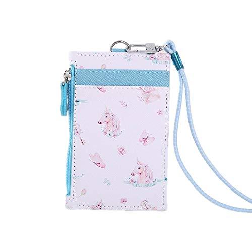 Funda para tarjetas de piel portátil, monedero con funda para tarjeta (color: azul)