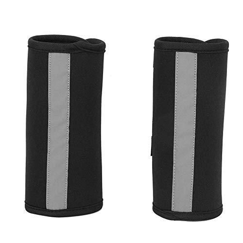 Pssopp Kniebandage für Hunde Sprunggelenk Schutz Bandage 1 Paar Bein Sprunggelenk Wrap mit reflektierenden Trägern für Vorder- oder Hinterbein zum Verletzungen und Verstauchungen, Wundheilung (M)