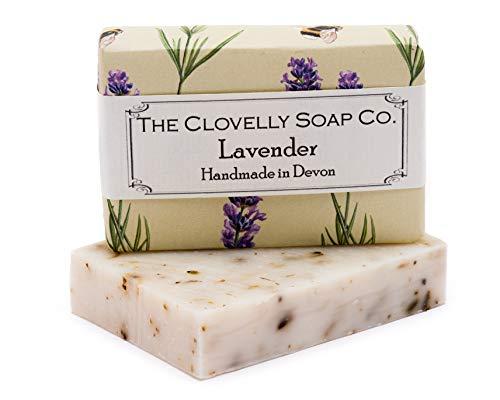 Clovelly Soap Co Natürliche handgemachte Seife für alle Hauttypen Lavendel 100g