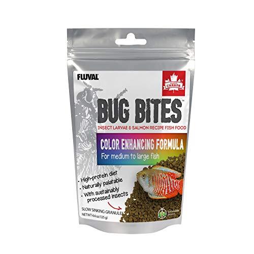 Fluval ALIMENTO para Peces - Bug Bites GRÁNULOS Formula REALZADOR Color (Ideal Peces Dorados) 125GR - 1,4-2mm