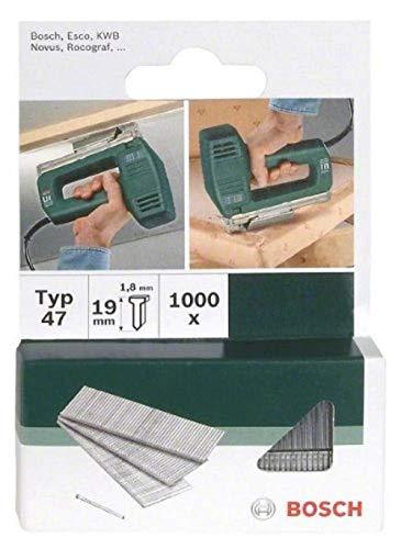 Bosch 2609255811 - Chiodi per pinzatrice modello 47, 23mm, confezione da 1000 pezzi