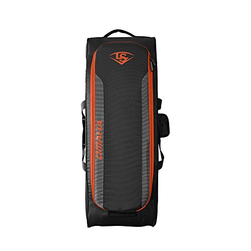 Louisville Slugger Omaha Rig Wheeled Bag - Orange