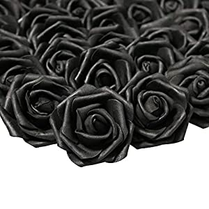 Lightingsky 3 x 1.6 x 3 inches DIY Real Touch 3D Artificial Foam Rose Head Without Stem for Wedding Party Home Decoration