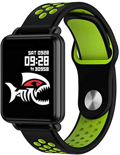 SNFHL Reloj Inteligente, Pulsera Inteligente Pantalla Táctil A Color Pantalla Completa de 1,3 Pulgadas, Monitor de Frecuencia Cardíaca Presión Arterial,Green