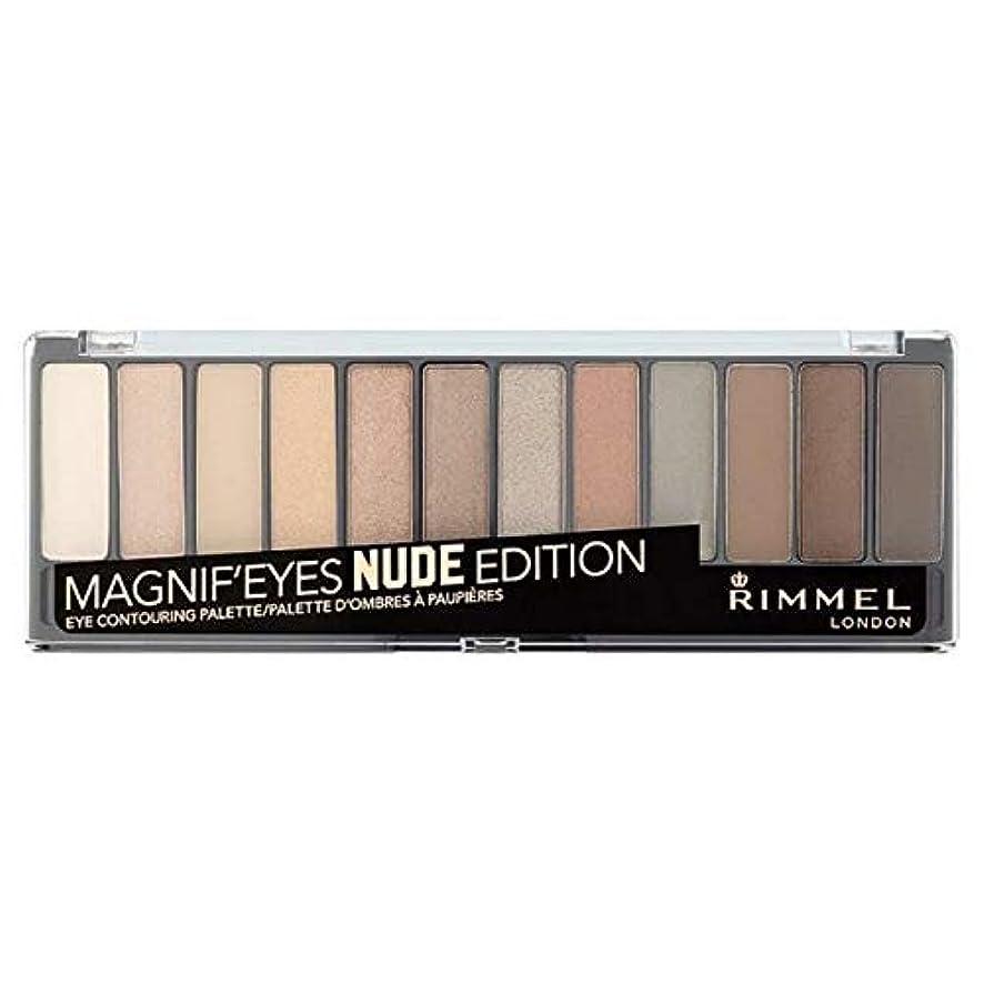 飛び込む有効な薄い[Rimmel ] ヌードリンメルMagnif'Eyes 12パンアイシャドウパレット - Rimmel Magnif'Eyes 12 Pan Eyeshadow Palette Nude [並行輸入品]
