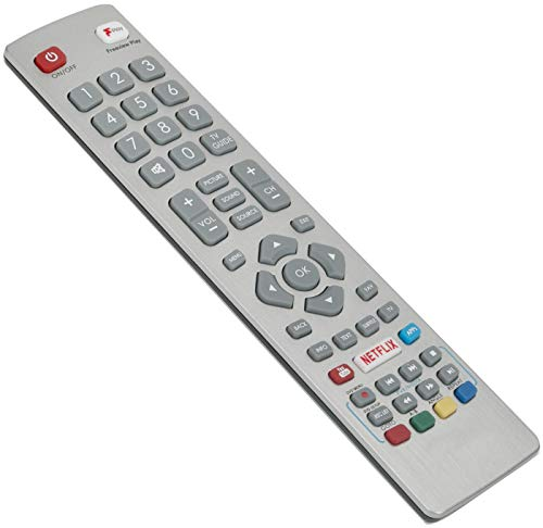 ALLIMITY SHW/RMC/0121 Remote Control Replaced for Sharp Aquos UHD 4K Smart 3D TV LC-24DHG6001KF LC-32FI5342KF LC-32FI5442KF LC-40FG2241KF LC-40FG5141KF LC-40FI5342KF LC-40FI5442KF