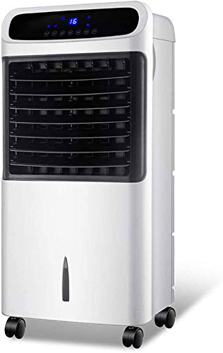 Mopoq De refrigeración y calefacción de doble uso de aire acondicionado ventilador, control de ahorro de energía estupendo remoto inteligente con 3 tipos de modo de velocidad del viento de 7,5 horas d