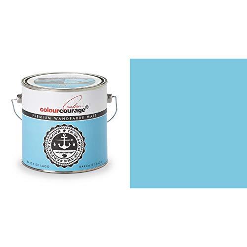 2,5 Liter Colourcourage Premium Wandfarbe Barca de Lago Hellblau | L719778583 | geruchslos | tropf- und spritzgehemmt