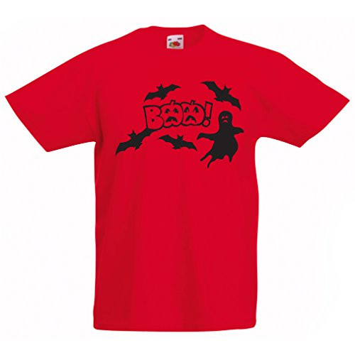 lepni.me Camisas para niños BAAA! - Funny Halloween Costume Ideas, Cool Party Outfits (9-11 Years Rojo Multicolor)