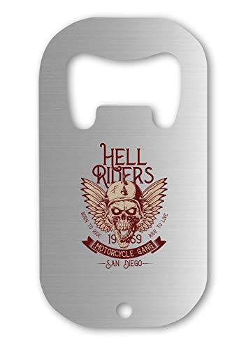 Hell Riders Biker Skull Abrebotellas