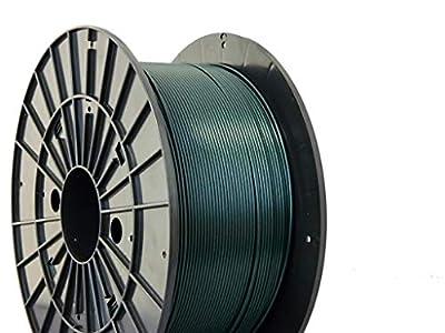 Czech-Made PLA, Metallic Green, ? 1.75 mm, 1 kg Spool, 3D Printing Filament from Filament PM
