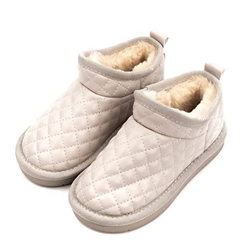 Botas cálidas Niños Invierno al Aire libreWinter Plus Velvet Warm Snow Boots Calzado Infantil Resistente al Desgaste Calzado Infantil Informal-Beige_27Botas de Nieve para Caminar para niños In