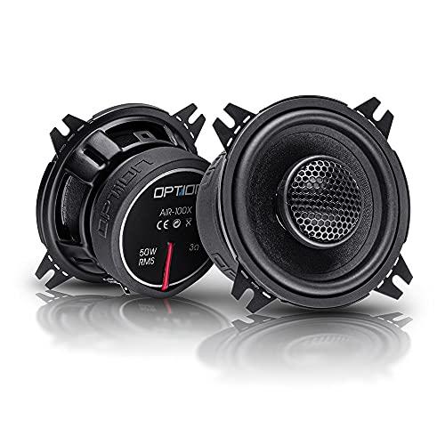 OPTION AIR 100x - 10cm 2-Wege Koaxial Lautsprecher-System - 25mm Hochtöner mit Gewebekalotte - 70 Watt RMS, 3 Ohm