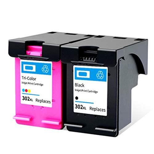 Cartuchos de tinta 302xl, cartuchos de tinta compatibles para HP DeskJet 1111 2131 2132 1112 Cartuchos de tinta, Negro 600 Páginas, Color 450 Páginas