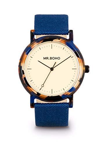 Reloj MR BOHO 00728963 38 MM Correa Azul Y Carey Azul