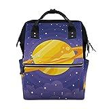Galaxy Golden Shine Saturn Planet Wickeltasche, groe Kapazitt, multifunktionaler Rucksack fr Reisen