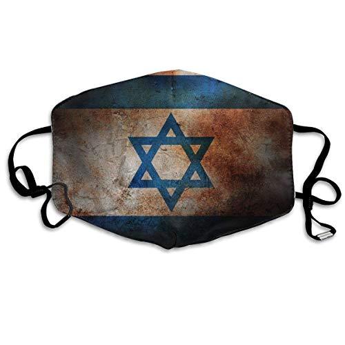 Vintage Joodse Vlag Gezicht Cover Verstelbare Oorlussen Ademende Herbruikbare Outdoor Mond Cover Stofhoes voor Volwassenen Kinderen