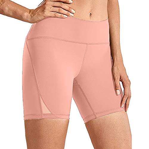 Holywim Short de Yoga Taille Haute Femme Formation au contrôle de l'abdomen Pantalon de Yoga de Course