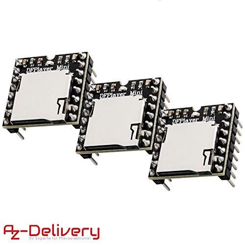 AZDelivery 3 x Mini MP3 Player DFPlayer Master Module für Arduino