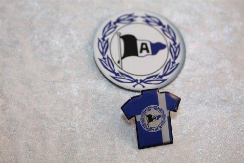 Arminia Bielefeld Fanset 2 teilig Trikot Pin + Trikotmagnet Anstecker Bundesliga