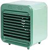 AERZETIX 2020 Rechageable Water-Cooled Air Conditioner Portable Desktop Evaporative Air Cooler Fan with Icebox Spray Humififier Purifier Misting Fan Ultra-Quiet for Summer Home Office Bedroom (Green)