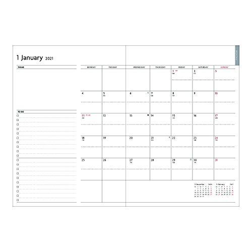 マークス手帳2021スケジュール帳ダイアリーEDiT週間ノート2020年12月始まりセミA5スープル・プリュス21WDR-ETH01-GY
