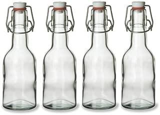 Nakpunar Swing Top Glass Bottles, 8.5 Ounce - Set of 4