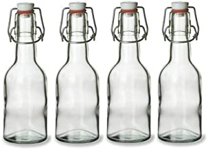 Nakpunar 4 pcs Swing Top Glass Bottles, 8.5 Ounce - Set of 4
