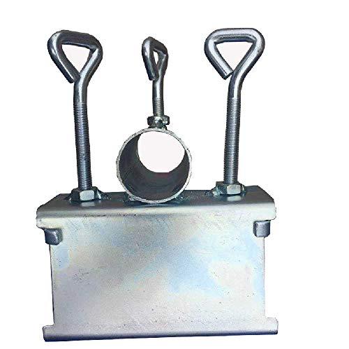 qijin Terrassenschirm Schirmständer Bank Deck Schirmständer Metallclip Strandfischen Regenschirmclip Für Balkondeck, Silver 7 cm/Silber