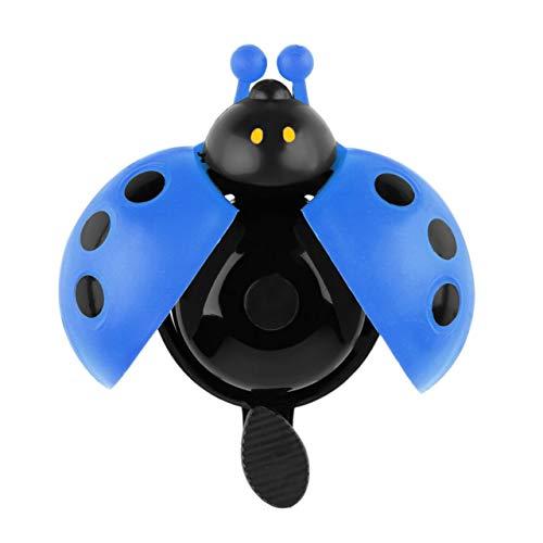 SZXCX Colorido plástico Claro y melodioso Sonido de Campana Encantador Chico Escarabajo Mariquita Anillo Timbre Bici Bici Paseo bocina Alarma