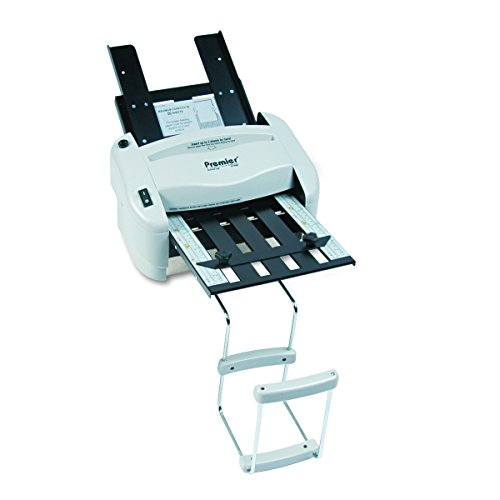 Martin Yale P7400 RapidFold Automatic Feed Desktop Folder, Feed Tray Holds up to 50 Sheets of Paper, Folds 8 1/2' x 11' and 8 1/2' x 14', Folds up to 3 Sheets