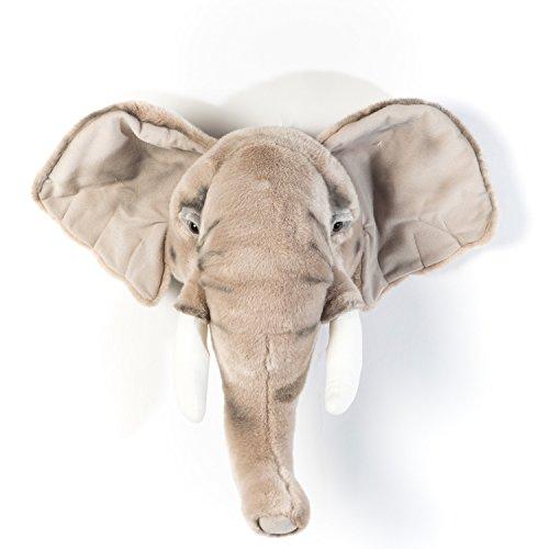 Elefante George - Peluche como decoración de pared en el cuarto de niños