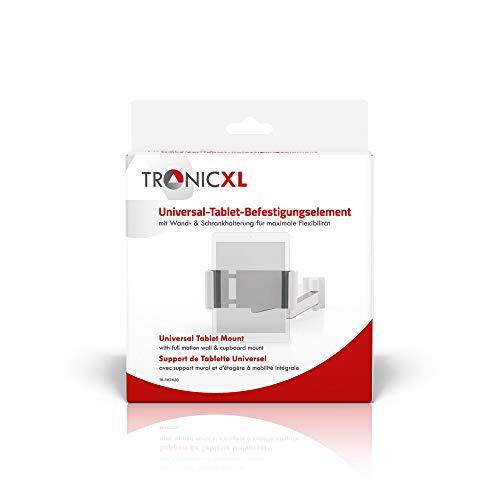 TronicXL Tablet Wandhalterung Wandhalter Halterung schwenkbar neigbar kompatibel mit Apple Ipad Lenovo MSI Huawei Sony Acer etc