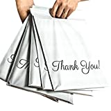 Poly Mailers 10x13 with Handle, 100 Pack Packaging Bags, Thank You Mailing Envelopes, Ship...