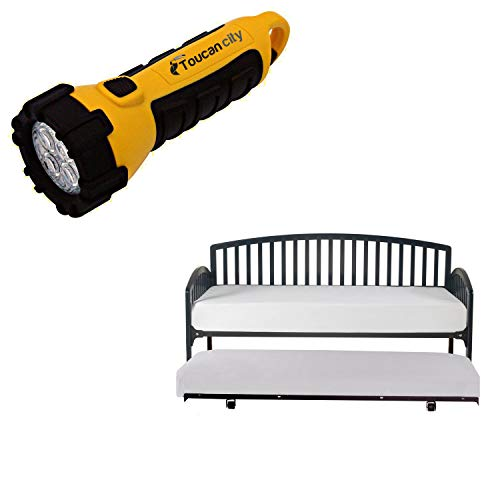 Toucan City LED Flashlight and Hillsdale Furniture Carolina Navy Daybed with Suspension Deck and Trundle Included 1924DBDTN