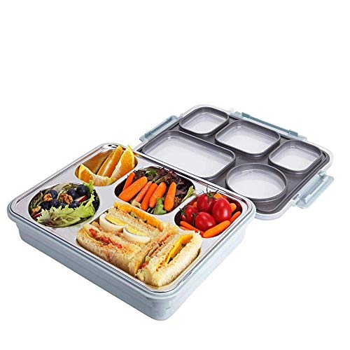 Femora High Steel Rectangle Lunch Box Steel Container for Office-College-School - (Not Leakproof)