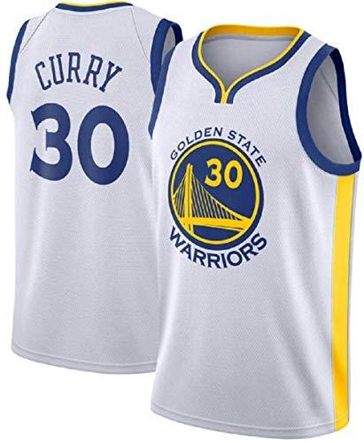 MTBD - Camiseta de baloncesto para hombre de los Warriors Golden State de la NBA, con el número 30 de Stephen Curry, unisex, ropa deportiva