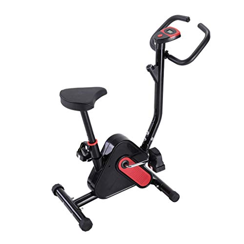 Ship from USA, Indoor Cycling Bike Stationary - Cycle Bike with Comfortable Seat Cushion - Health & Fitness Indoor Cycling Bike -Dual Felt Pad Resistance with Caged Pedals - Adjustable Seat (A)