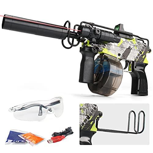 LADINWU Electric Gel Ball Blaster with 10000 Gel Balls - High Performance Assembled Water Bead Gun -...