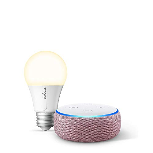 Echo Dot (3rd Gen) Plum Bundle with Sengled Wi-Fi Smart Bulb