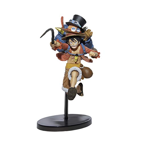 Banpresto-BP16139 Figura de Accion, One Piece, Three Brothers, Luffy (Bandai BP16139)