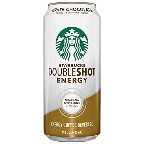 Starbucks, Doubleshot Energy Drink, White Chocolate, 15 Fl Oz (Pack of 12)
